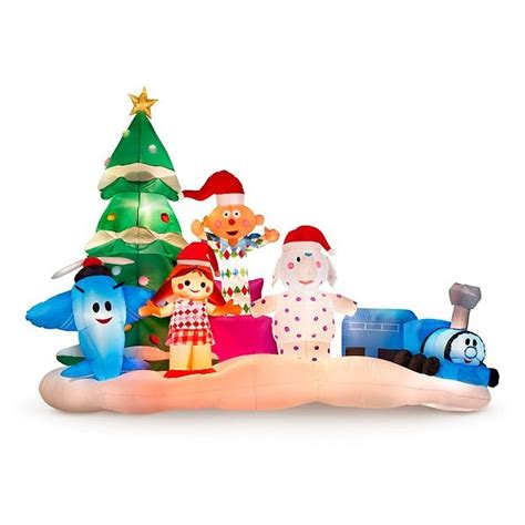 rudolph s island of misfit toys christmas airblown inflatable