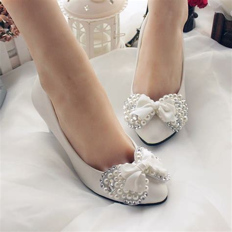 Handmade Wedding Shoes - newest handmade wedding shoes white bridal shoes