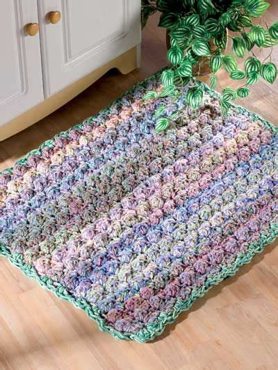 throw rug patterns cushy puff stitch throw rug crochet pattern from e patternscentral
