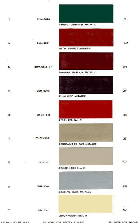 5 best images of bronze color chart interior vinyl windows bronze color 1966 chevelle
