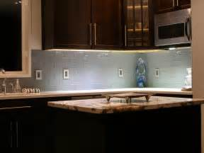 blue glass kitchen backsplash vapor glass subway tile modern kitchen island wooden