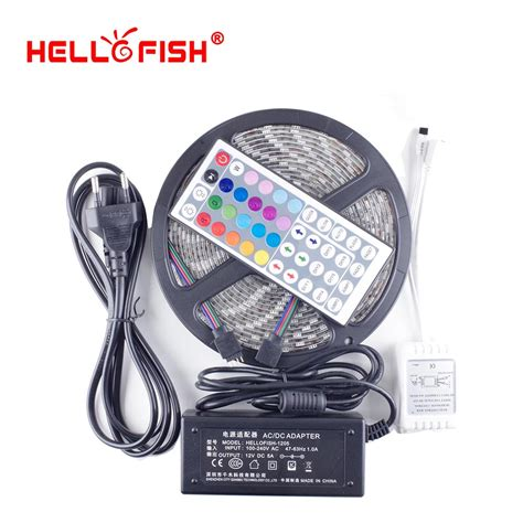ge led strip light kit 12 hello fish 5m 5050 300 smd ip65 waterproof flexible led