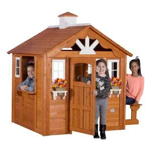 backyard discovery summer cottage all cedar playhouse