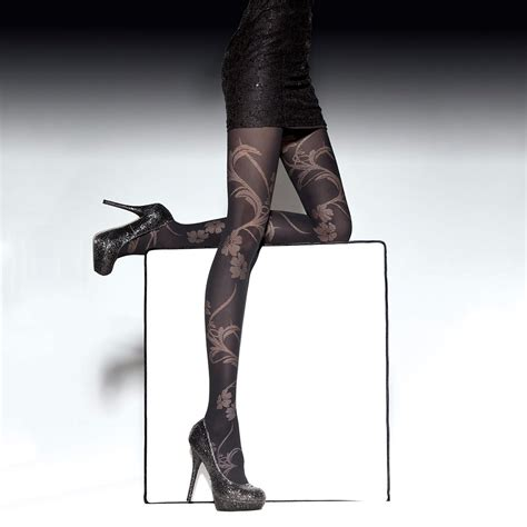 fiore end fiore luciana floral pattern microfibre opaque tights at
