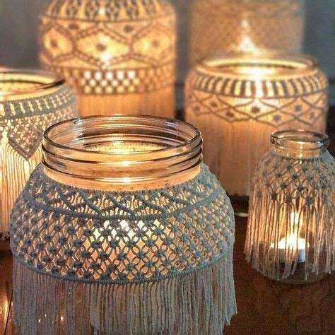 macrame decoracion macrame jars macrame candleholders macrame container