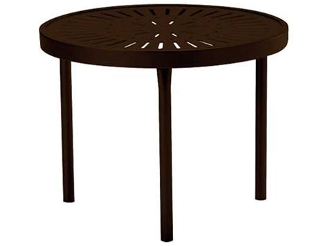 Tropitone La Stratta Aluminum 20 Round End Table 8082sl Tropitone Patio Table