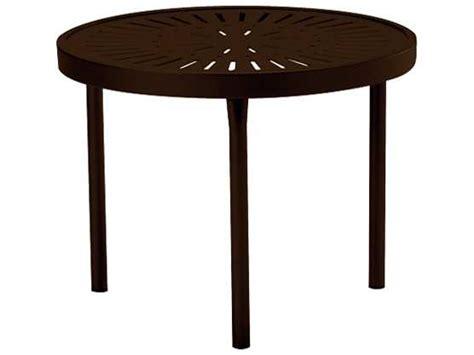 Tropitone La Stratta Aluminum 20 Round End Table 8082sl Tropitone Patio Table
