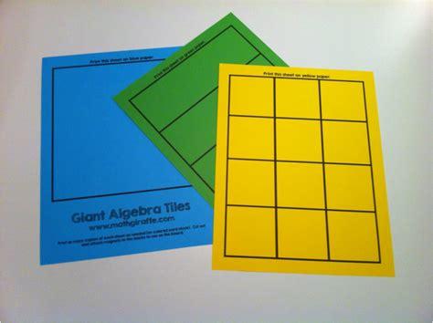 algebra tile template printable algebra tiles pdf tile design ideas