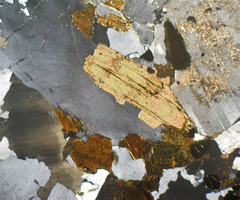 Granite Thin Section by Granite Ross Of Mull Scotland Thin Section Microscope