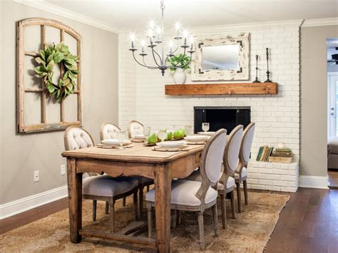 Dining Room Tables Hgtv A Of Laughs With Fixer Chip And