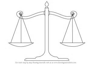drawing to scale learn how to draw scales of justice everyday objects step by step drawing tutorials
