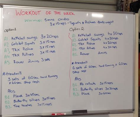 workout of the week whiteboard fitness