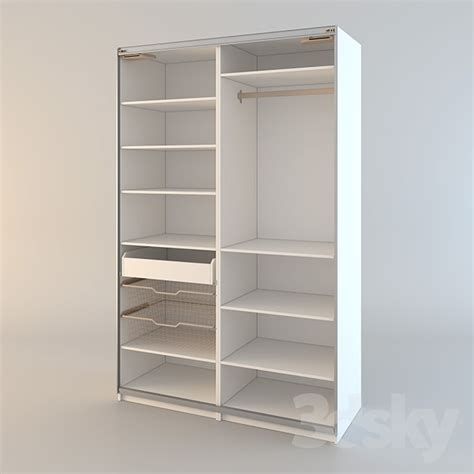 Wardrobe Cabinet Ikea by 3d Models Wardrobe Display Cabinets Ikea Pax Pax Wardrobe