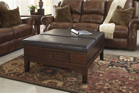 ashley ottoman with 4 storage drawers signature design by ashley gately t845 21 lift top ottoman