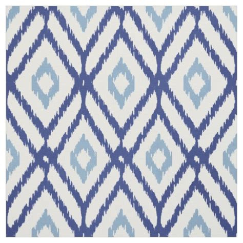 diamond pattern fabric name chic blue and white ikat tribal diamond pattern fabric