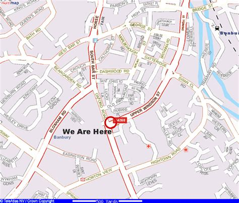banbury map uk the lismore hotel banbury