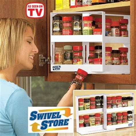 Seen On Tv Spice Rack swivel store as seen on tv products deluxe spice rack cabinet organizer storage system set with