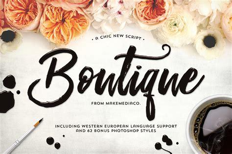 Wedding Running Fonts by Boutique Script Font Kreativ Font