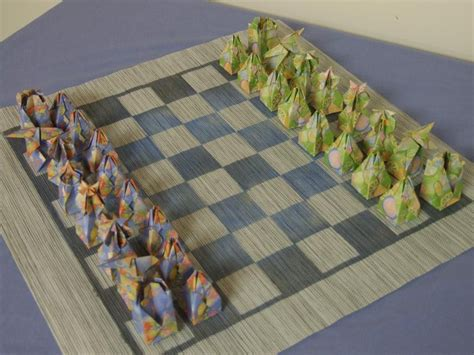 Origami Chess Set - origami chess set 171 embroidery origami