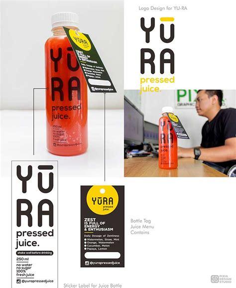 logo  label botol yura pixia design studio pixia