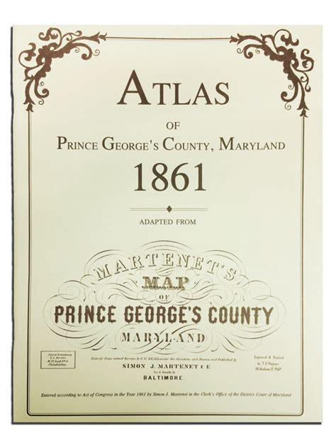 Pg County Search Atlas Of Prince George S Maryland 1861 Prince George S County Historical Society