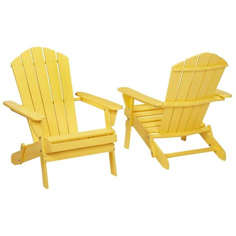 buttercup folding outdoor adirondack chair 2 pack 2 1