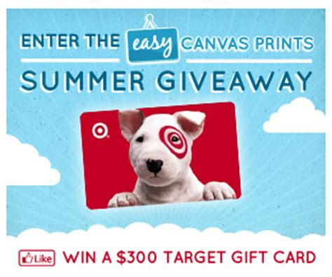 Easy Entry Sweepstakes - easy canvas prints summer giveaway sweepstakes win a 300 target gift card