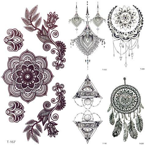 3d henna tattoo 3d black mandala flower henna temporary