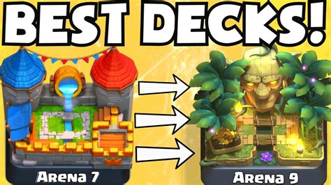 clash royale best deck for arena 7 arena 9 decks undefeated best attack strategy tips f2p