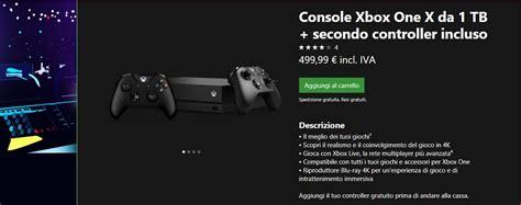 offerte console xbox one microsoft offre il secondo controller in omaggio con xbox