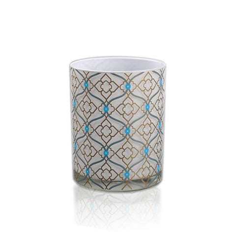 candele vetro cristallo candela titolare galvanotecnica portacandele in