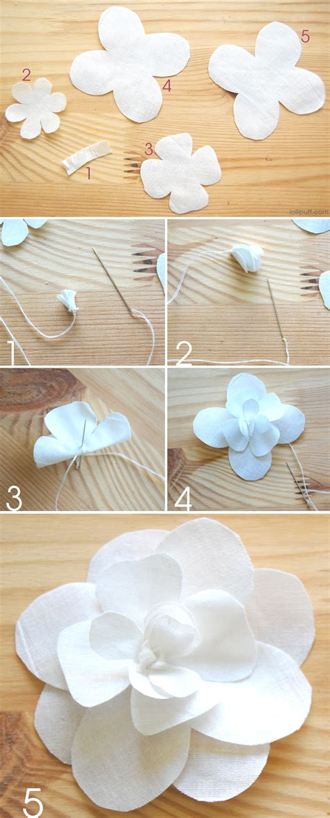 paper camellia flower tutorial a fun diy fabric camellia flower lollipuff