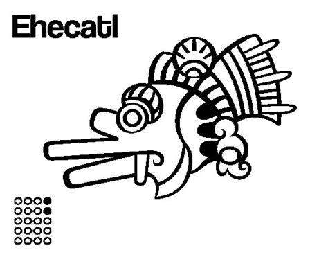 imagenes de penachos aztecas para colorear dibujo de los d 237 as aztecas el viento ehecatl para