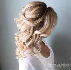 Curled Half Up Half Hairstyles by Of The Hairstyleshalf Up Half