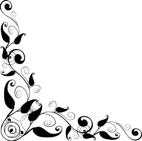 floral design corner   images  clkercom vector