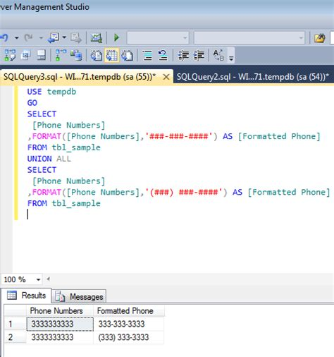 format your phone sql server 2012 how to format phone numbers sql server