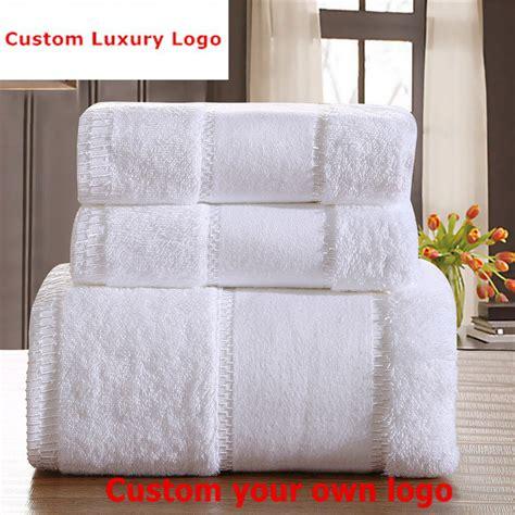 Bathroom Set 3 Pcs Bm010 custom luxury logo towel set 100 cotton 3pcs set bath towels thickened large