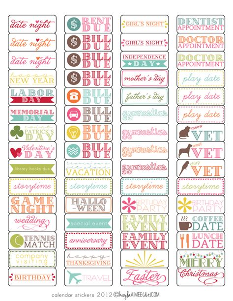 printable planner labels free template tutorial calendar stickers magnetic and