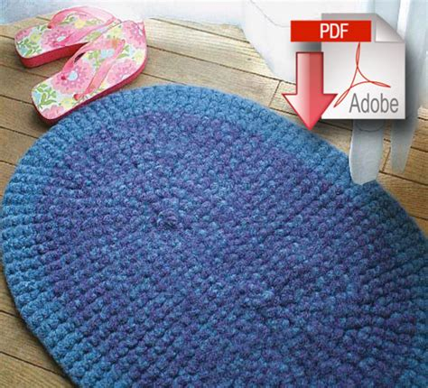 Crochet Rug Felted Pattern Download Crochet Pattern Crochet Rug Pattern Free