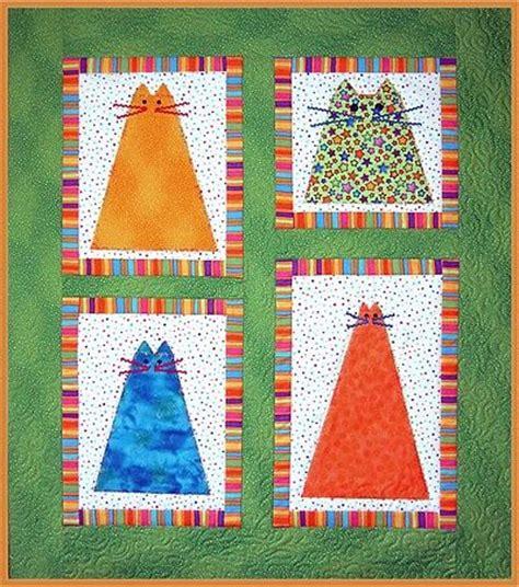 Patchwork Cat Quilt Block Patterns - cats quilt patchwork