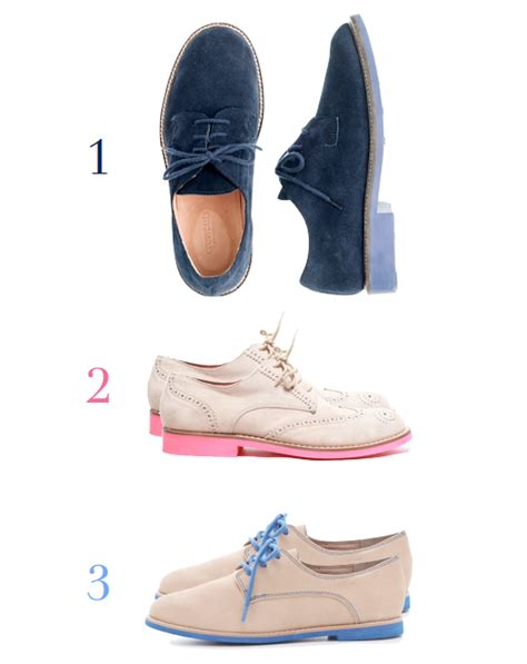 oxford shoes colored soles trendspotting colored sole oxfords design