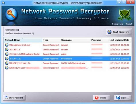 windows reset network password network password decryptor v6 5 windows network password