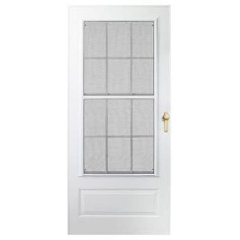 Emco 3000 Series Door by Emco 300 Series White Track Colonial Door
