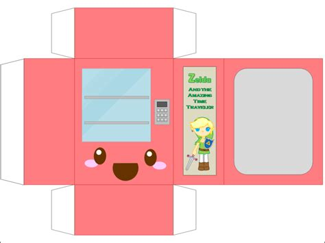 food papercraft template vending machine by cutycandy27 on deviantart