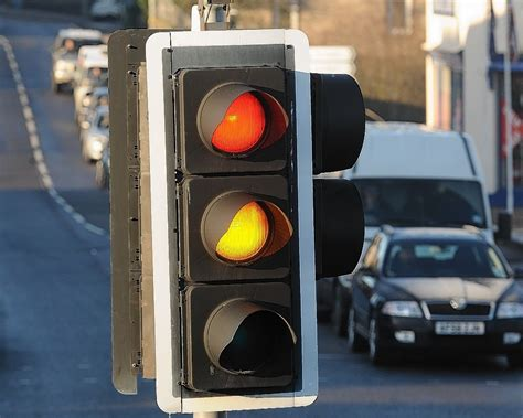 traffic light traffic lights cause chaos on busy aberdeen airport road