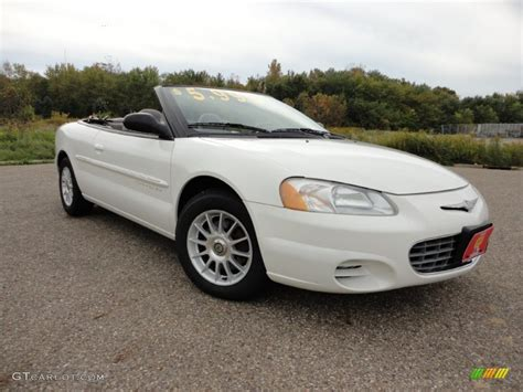 Chrysler Sebring 2001 Convertible by 2001 White Chrysler Sebring Lx Convertible 57271283
