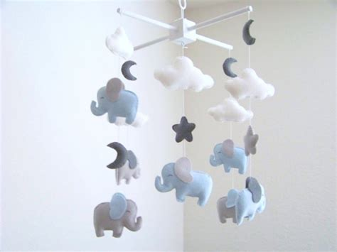 Gray Crib Mobile by Elephant Baby Mobile Blue And Gray Baby Mobile Nursery Crib