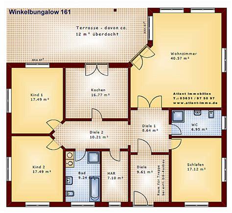 Kinderzimmer Grundriss Beispiele by Winkelbungalow 161 Einfamilienhaus Neubau Massivbau Stein