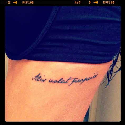 tattoo alis volat propriis alis volat propriis rib tattoo my style pinterest
