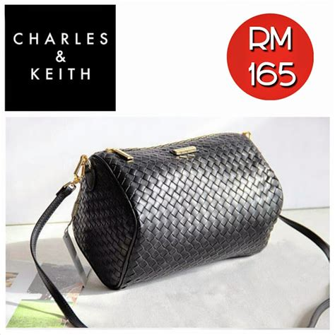 Charles N Keith Original 4 charles keith messenger bag blue and black shantek